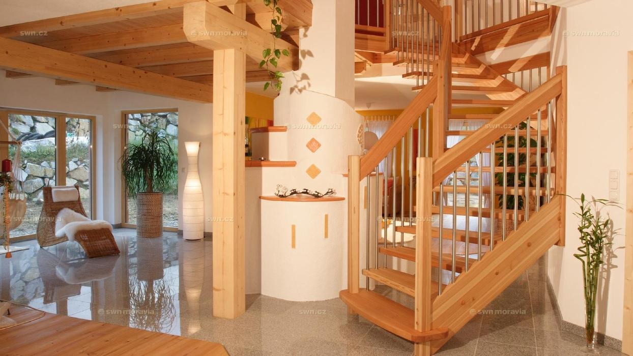 Дизайн загородных лестниц в небольших домах